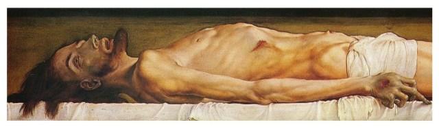 Holbein Dead Christ, detail