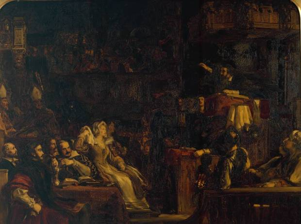 The Preaching of Knox before the Lords of the Congregation, 10th June 1559 1832 by Sir David Wilkie 1785-1841