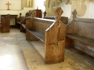 Seventeenth century pews, Church of St Bridget, Chelvey